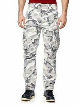 NEW MENS LEVIS RELAXED FIT ACE CARGO PANTS WHITE CAMOUFLAGE