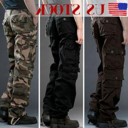 New Military Mens Cargo Pants Combat Camouflage Camo Tactica