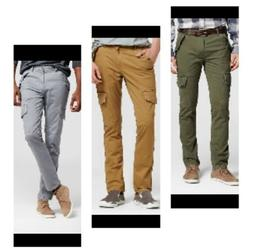 NEW * MOSSIMO MENS Cargo Combat Pants SLIM LEG Stretch * 4 C