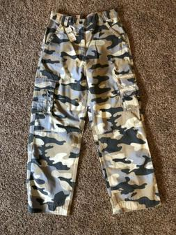 New NWT Boys Camoflage Cargo Pants LL Bean Size 14 Expeditio