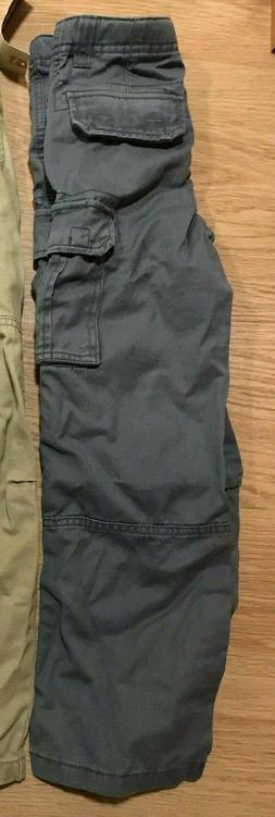 NEW Pair BOYS Cherokee CARGO Pants SIZE 7 Quartz GRAY ADJUST
