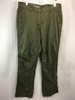 NEW Carhartt Relaxed Fit Green Pants Mens 34 x 32 Cargo 100%