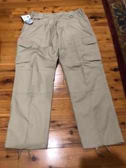 New LA Police Gear Tactical Pants With Zip Sz 34 X 30 Khaki