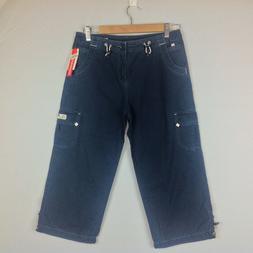 New Union Bay Capri Cargo Pants Womens Junior 5 Blue