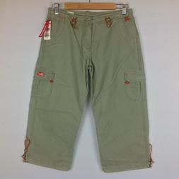 New Union Bay Capri Cargo Pants Womens Junior 5 Army Green