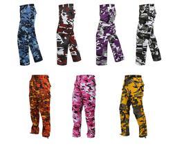 New Unisex Rothco Fashion Colored Camo Cargo BDU Pants