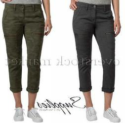 NEW WOMENS SUPPLIES BY UNIONBAY CARGO CAPRI PANT JEAN! ADJUS