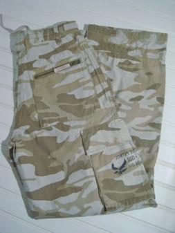 New UNIONBAY Youth/Boys Size 14 Khaki Brown/Beige Camouflage