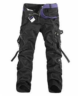 V1 Clothing CO NiuZi Mens Loose Fit Cargo Pants Military Arm