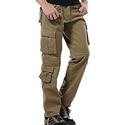 V1 Clothing CO NiuZi Men's Winter Fleece Lined Cargo Pants C