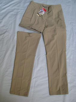 North Face Sz 8 Convertible Outdoor Hike Cargo Pants Zipper