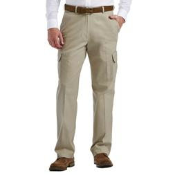 NWT 34x32 HAGGAR Classic Fit STRETCH CARGO PANTS w/ Cell Pho