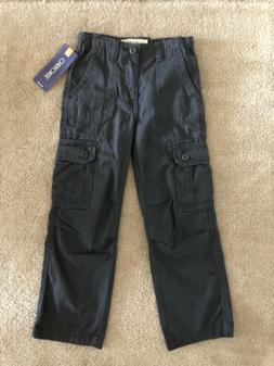 NWT Boys Cherokee Grey Cargo Pants Jeans 7
