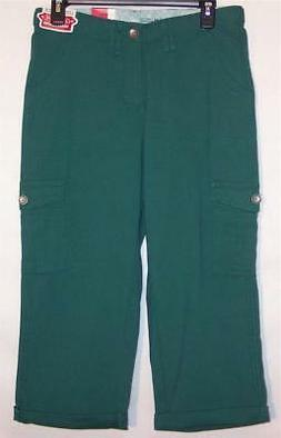 NWT Lee Comfort Fit Waistband Stretch Cargo Capri Pants Envy