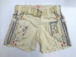 NWT Johnny Was Embroidered Emery Cargo Shorts P80819 - Size