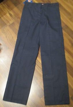 NWT Genuine Dickies navy blue cargo pants boys size 16 STRAI