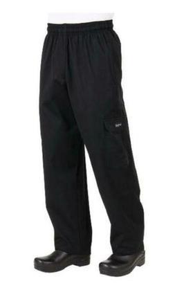 NWT Chef Works J54 Black Cargo Chef Pants Medium Item: CPBL0