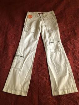 NWT Miss Sixty Jeans SIZE 25 White Denim Cargo Pants Italy W