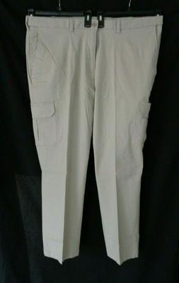 NWT Haggar Khaki putty cargo classic fit expandable waist pa
