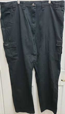 NWT Men's Wrangler Cargo Pants Relaxed Fit Black Tech Pocket