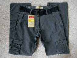NWT Men's Wrangler Cargo Pants w/Belt Lower Waist Relaxed Fi
