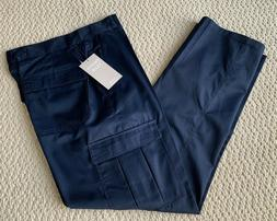 NWT Men's French Club Classic Solid Navy Blue Flap Cargo Poc