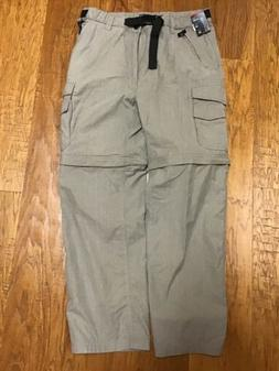 NWT ~ BC Clothing Men's Convertible Stretch Cargo Pant/Short