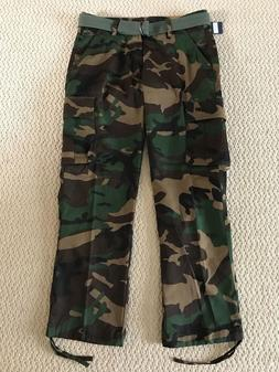 NWT Men's Swaggers Green Camouflage Camo Cargo Pocket Pants