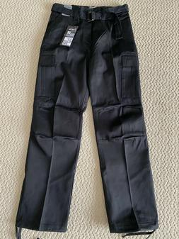 NWT Men's Regal Wear Solid Black Cargo Pocket Pants w/ Belt