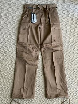 NWT Men's Regal Wear Solid Khaki Cargo Pocket Pants w/ Belt