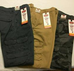 NWT NEW MEN'S Wrangler Cargo TAPER LEG FIT Regular Pant Stre
