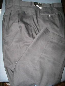 NWT! CLAIBORNE PLEATED MENS BLACK DRESS PANTS 46X30
