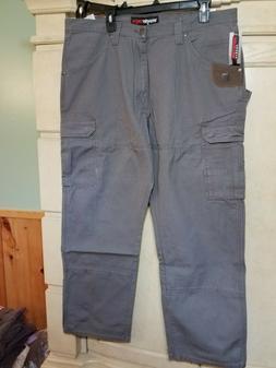 NWT WRANGLER Riggs Workwear GREY Ripstop Ranger Cargo Pants