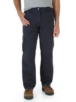 NWT WRANGLER RIPSTOP Cargo WORKWEAR Mens Navy Blue Pants SIZ