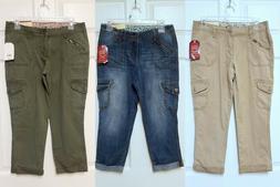 NWT Faded Glory Women's Cargo Utility Capri Jeans or Pants S