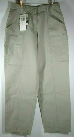 NWT Columbia Womens Cargo Pants VTG Trail Size 12 R Fossil 1