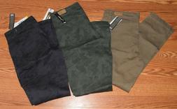 NWT Womens SUPPLIES by UNIONBAY Khaki Camo Gray Skinny Cargo
