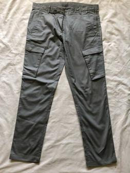 Calvin Klein One Mens Grey Ultra Slim Fit Cargo Pants w Two