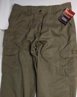 Wrangler Originals Cargo Pants 35 29 Khaki Loose Fit Premium