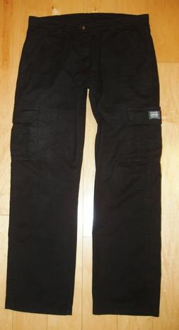 WRANGLER ORIGINALS MEN'S BLACK CARGO POCKET PANTS SIZE 34X32