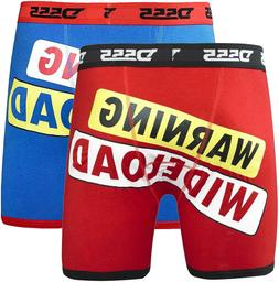 Pack of 2 Boxers Novelty WIDE LOAD Boxer Shorts Pants Big Si