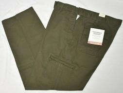 Dockers Pants Men's Comfort Cargo Classic Fit Canvas Olive G