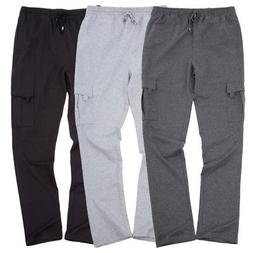 PJ Men's Stylish Multi-Pockets Cotton Sweatpants Cargo Pan