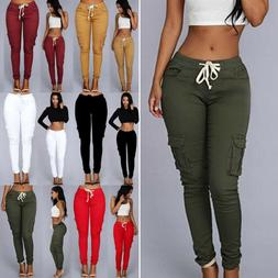Plus Size Women Leggings Cotton Skinny Stretch Cargo Slim Fi