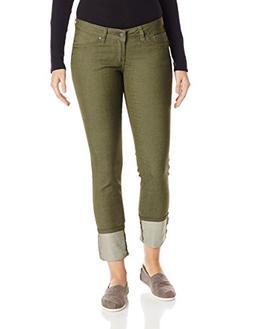 prAna Women's Kara Jeans, Size 14, Cargo Green
