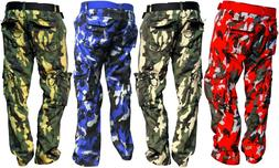 PREMIUM COTTON CAMOUFLAGE PANTS WITH CARGO POCKETS 30 32 34