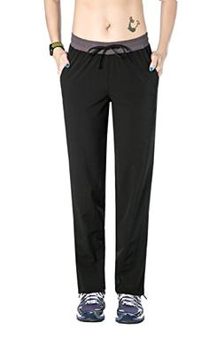 Unitop Women's Quick Dry Cargo Crop Running Pants With Draws