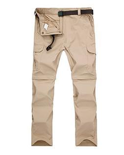 Jessie Kidden Men's Quick Dry Convertible Cargo Pant#1088,Kh