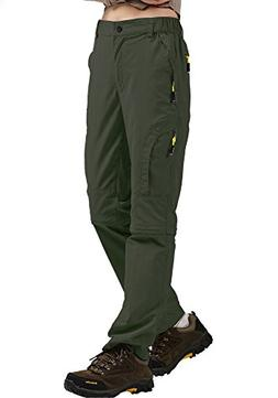 Women's Quick Dry Hiking Convertible Cargo Pants #4409-Army