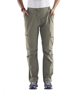Nonwe Ladies' Outdoor Quick Dry Running Cargo Pants Khaki L/